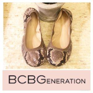 BCBGeneration Snakeskin Ballet Flats! | Sz 9 🌸